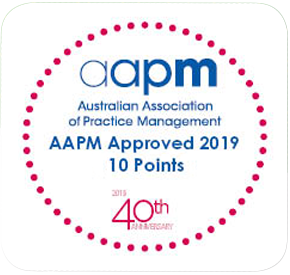 AAPM CPD Approved 2019 logo
