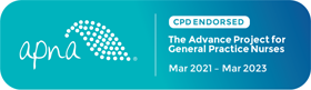 APNA CPD endorsement 2021-23 logo