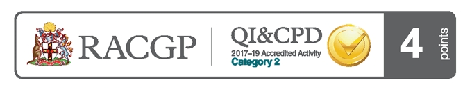 RACGP logo Accredited Activity 2017-2019
